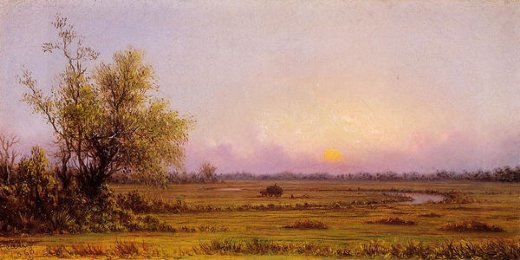 martin johnson heade sunset marsh painting