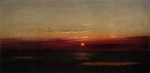 martin johnson heade sunset of the marshes paintings
