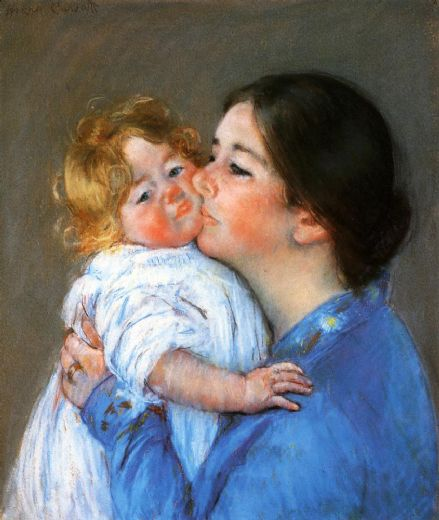 mary cassatt a kiss for baby anne paintings