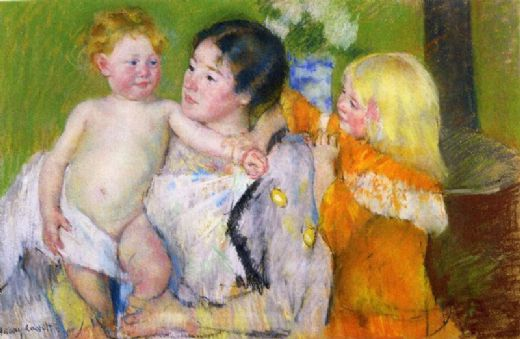 mary cassattafter the bath Painting-76761