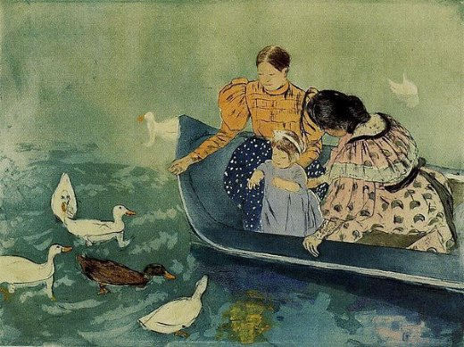 mary cassatt feeding the ducks paintings