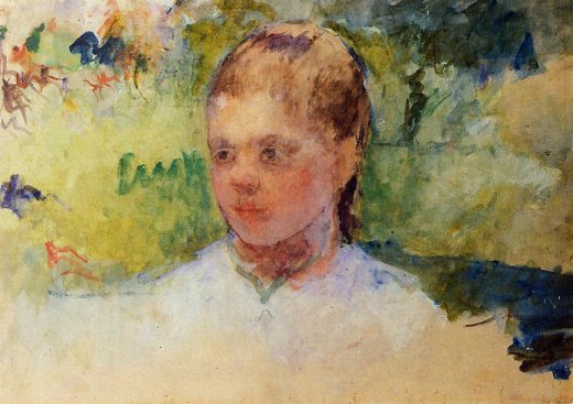 mary cassatt girl s head painting