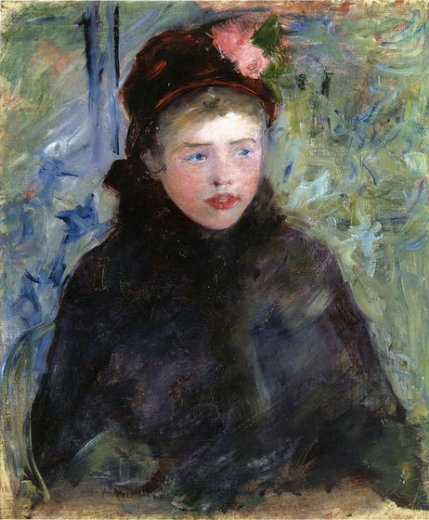 mary cassatt susan in a toque trimmed with two roses painting