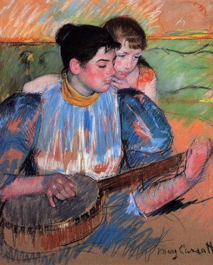 mary cassatt the banjo lesson prints