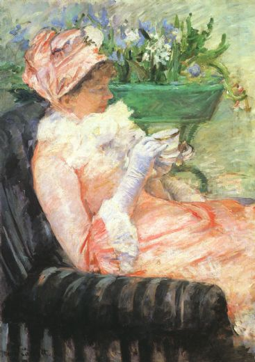 mary cassatt the cup of tea paintings