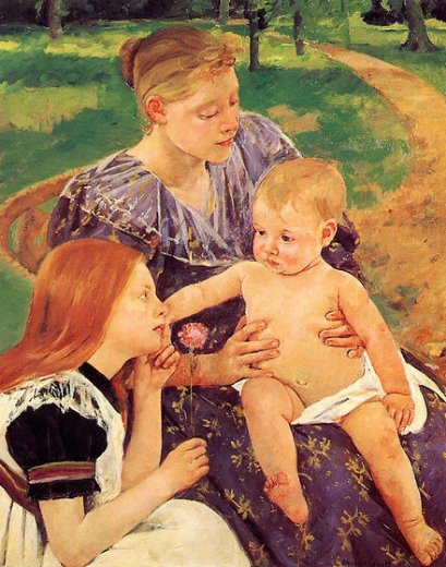 mary cassatt the family paintings
