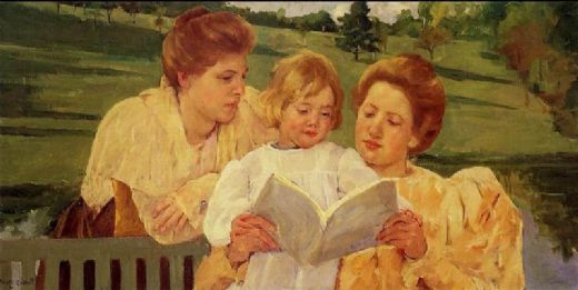 mary cassatt the garden reading paintings