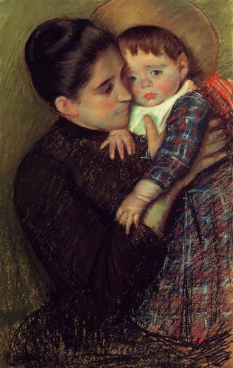 mary cassatt woman and her child oil painting