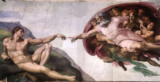 michelangelo buonarroti the creation of adam paintings