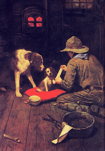 Norman_Rockwell_Red_Cross_Magazine_1918 painting
