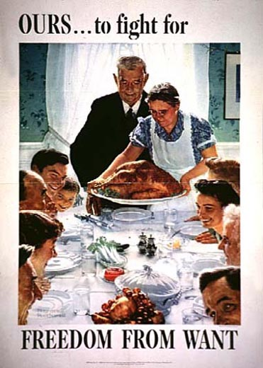 norman rockwell Freedom from want 1943 paintings