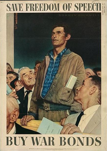 norman rockwell Save Freedom of Speech paintings
