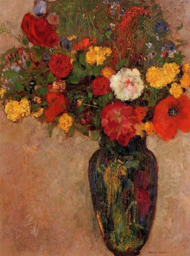 Vase of Flowers , Odilon Redon oil paintings on ArtSunLight