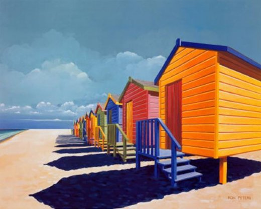 original paintings cabins by the sea painting
