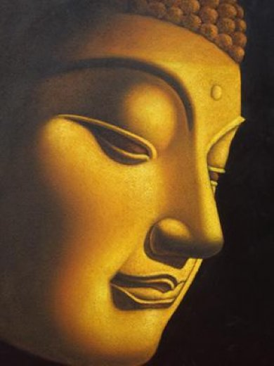 original paintings golden buddha painting