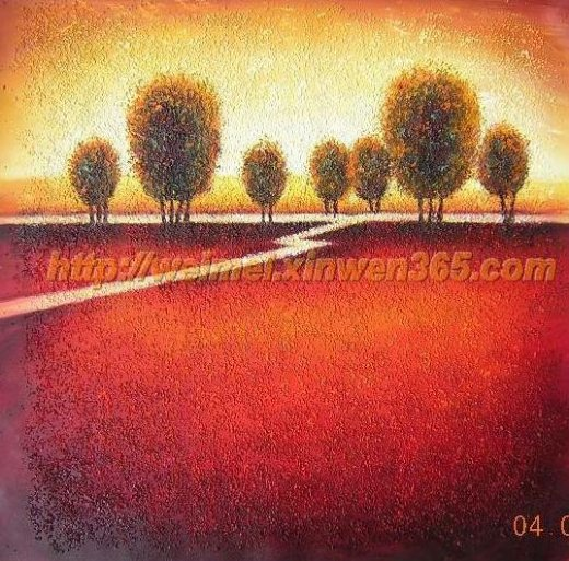 Original paintings highroad by a reddish field painting for Original oil paintings for sale by artist