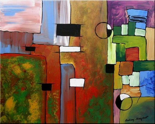 Original paintings modern abstract 4 painting original for Modern abstract paintings for sale