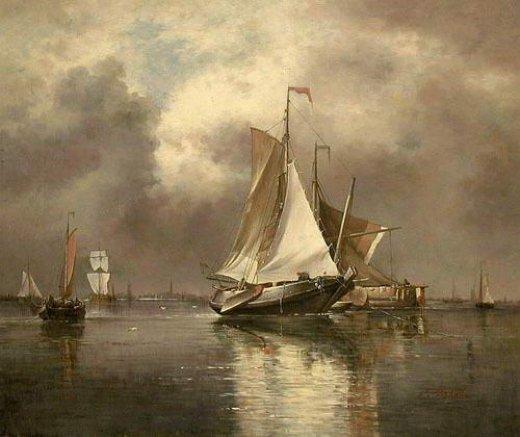 Original paintings sailing boats painting original for Original artwork for sale online