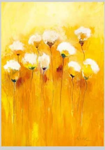 Original paintings some yellow and white flowers painting for White paint going yellow