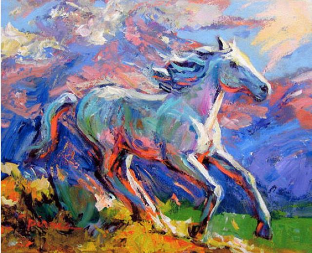 Abstract a horse 10 painting original abstract a horse for Original abstract paintings for sale