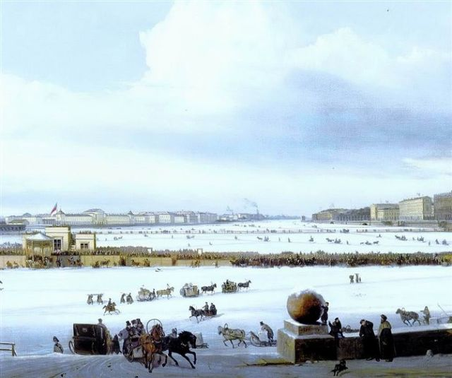 original winter russia 39 painting
