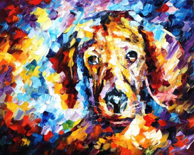 Original abstract dog 4 painting original abstract dog 4 for Original abstract paintings for sale