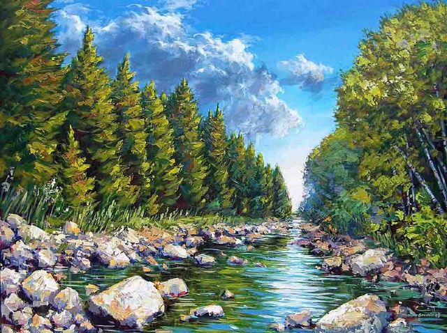 original canada mountain scenery landscape paintings