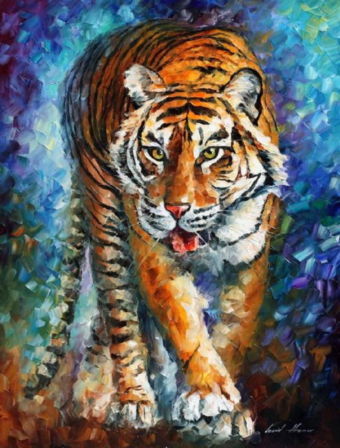 original scary tiger paintings