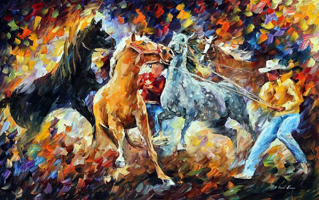 original subdual horses paintings
