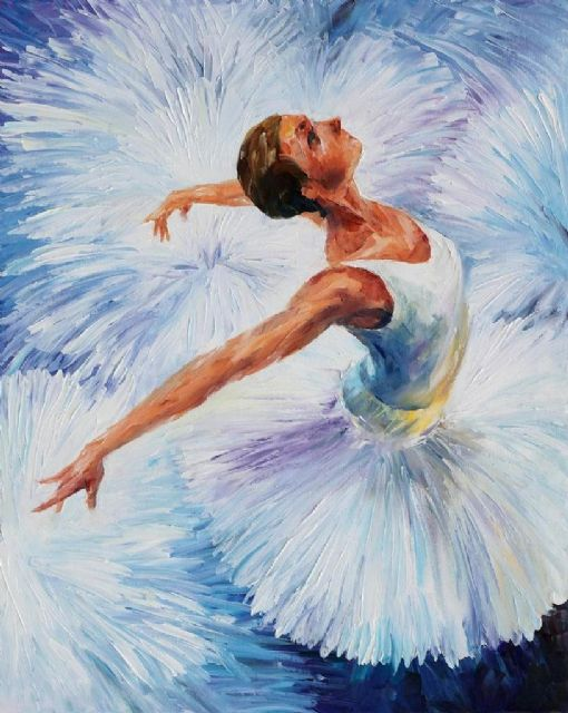 original white swan ballerina paintings