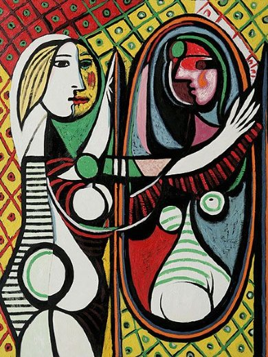 girl before a mirror ii painting pablo picasso girl before a mirror ii paintings for sale. Black Bedroom Furniture Sets. Home Design Ideas
