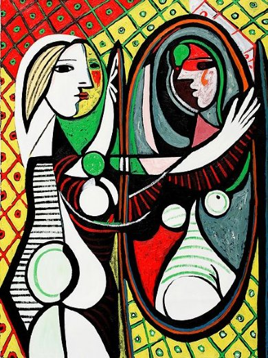 pablo picasso girl before a mirror iii painting pablo picasso girl before a mirror iii. Black Bedroom Furniture Sets. Home Design Ideas
