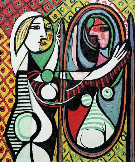 girl before a mirror painting pablo picasso girl before a mirror paintings for sale. Black Bedroom Furniture Sets. Home Design Ideas