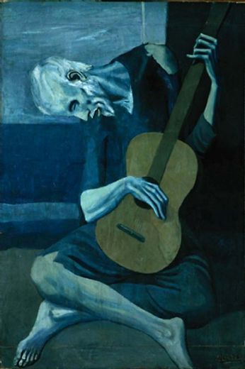 pablo picasso the old guitarist painting