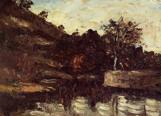 paul cezanne a bend in the river paintings