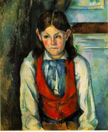 paul cezanne boy in a red vest iv painting