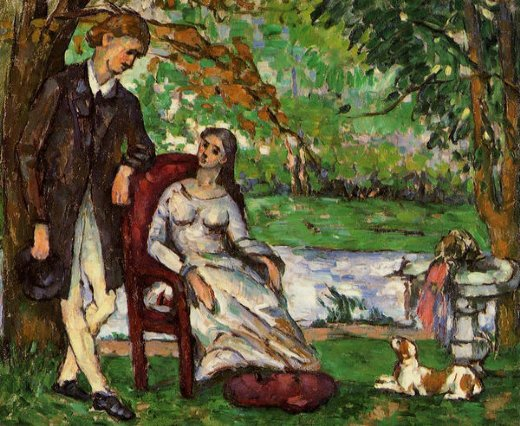 paul cezanne couple in a garden paintings