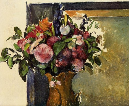 paul cezanne flowers in a vase prints