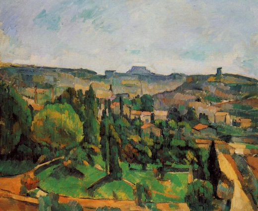paul cezanne ile de france landscape ii painting
