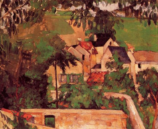 paul cezanne landscape at auvers paintings