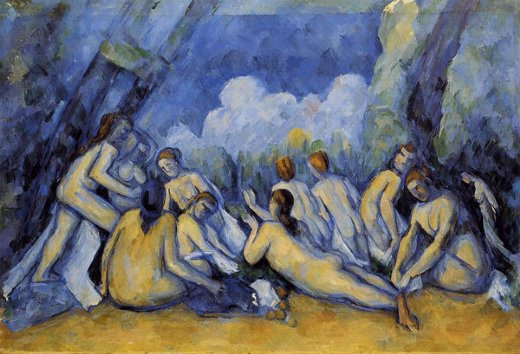 paul cezanne the large bathers iii painting
