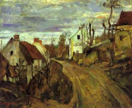 paul cezanne village road auvers painting