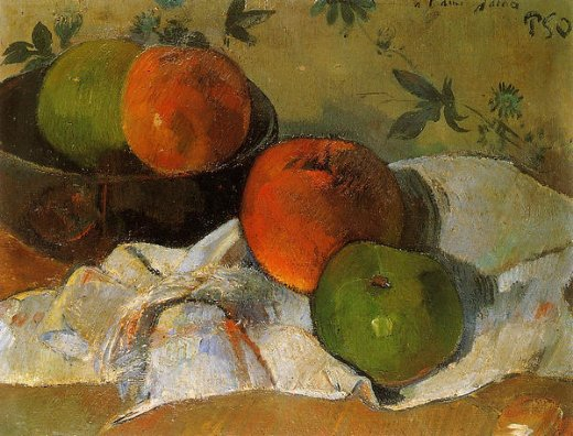 paul gauguin apples and bowl posters