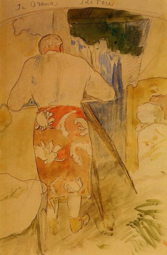 paul gauguin ja orana ritou painting