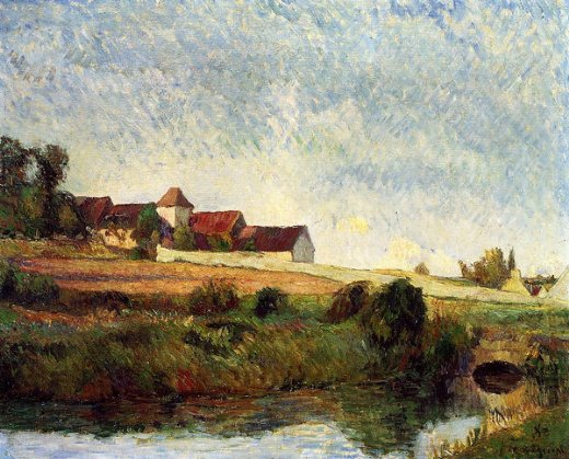 paul gauguin la groue farm osny oil painting