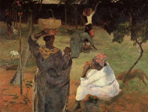 paul gauguin mango pickers martinique painting