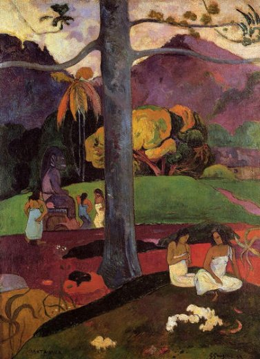 paul gauguin mata mua painting