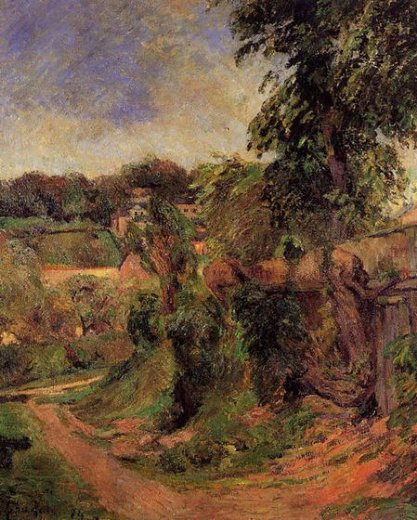 paul gauguin near rouen paintings