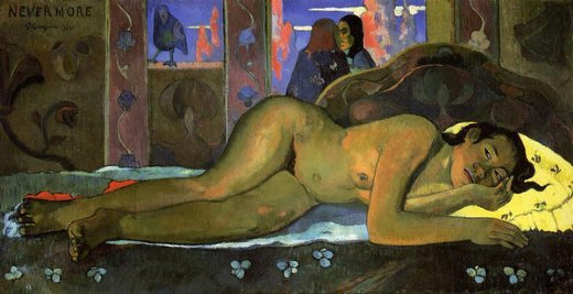 paul gauguin nevermore oh tahiti painting