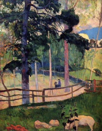 paul gauguin nostalgic promenade oil painting